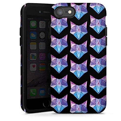 Apple iPhone 6s Tasche Hülle Flip Case Space Fox Fuchs Muster Tough Case glänzend