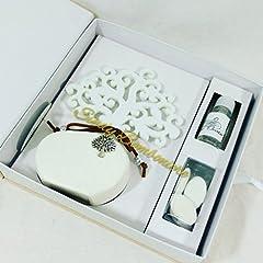 Idea Regalo - Bomboniera matrimonio diffusore con albero della vita e ciondolo ETIEMME CREATIONS (Bomboniera non confezionata)