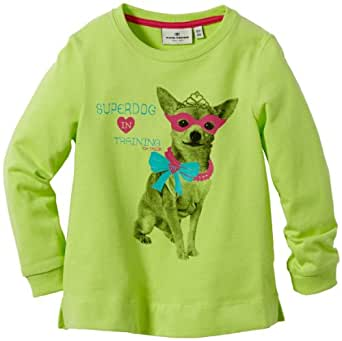 TOM TAILOR Kids sweatshirt have fun/312 Pull  Fille - Vert - Grün (sharp green) - FR : 7 ans (Taille fabricant : 122)
