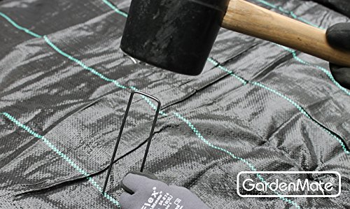 GardenMate 100 Erdanker 150mm lang, 25mm breit aus Stahldraht Stärke 2,3mm, 100 Stück -