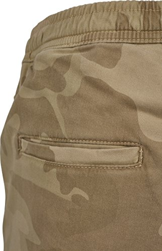 Urban Classics Herren Shorts Camo Joggshorts Mehrfarbig (Sand Camo 00867)