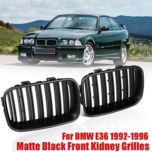 MATBC 51138122237 51138122238 Paar Nierengitter Car Racing Grills Mattschwarz Abs, Für BMW E36 1992 1996