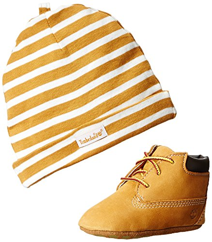 Timberland Crib Bootie with Hat, Unisex-Kinder Klassische Stiefel, Gelb (Wheat), 16 EU (0.5 Child UK) Shop Baby-booties