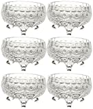 Elegant Glass Dessert Bowl Set, Set of 6...
