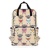 FANTAZIO Adorable Sheep Backpack Casual Daypack