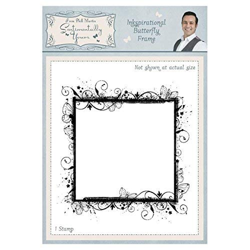 Sentimentally Yours Rubber Stamp - Inkspirational Butterfly Frame