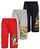 Dongli Boys Fabulous Printed Capri(Pack Of 3) (DBPC WMELANGE NAVY RED 3-4Y)