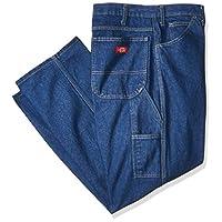 "Dickies Occupational Workwear LU200RNB3230 LU200 Industrial Carpenter Denim Jean, Fabric, 32"" x 30"", Rinsed Indigo Blue"