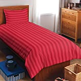 Spaces Skyrise 300 TC Cotton Single Bedsheet with 1 Pillow Cover - Red