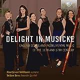 Delight in Musicke : Mélodies et musique instrumentale anglaises aux 16ème et 17ème siècle. Van Veldhoven, Seldom Sene.