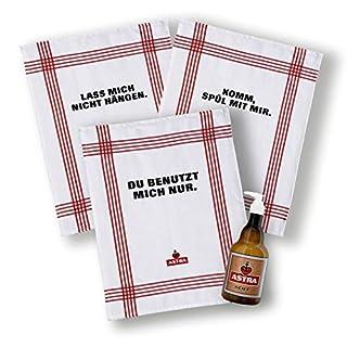 Astra Küchenset 4-Teilig, Bestehend aus Seifenspender und 3 Küchentüchern,für Bad + Küche,für Männer & Frauen, Geschenk-Ideen aus St. Pauli