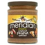 Meridian Bio crunchy Erdnussbutter - ohne Zuckerzusatz und ohne Zusatz von Salz-280g