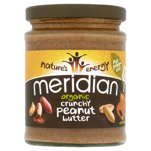 Meridian organic organic natural crunchy peanut butter, 280g