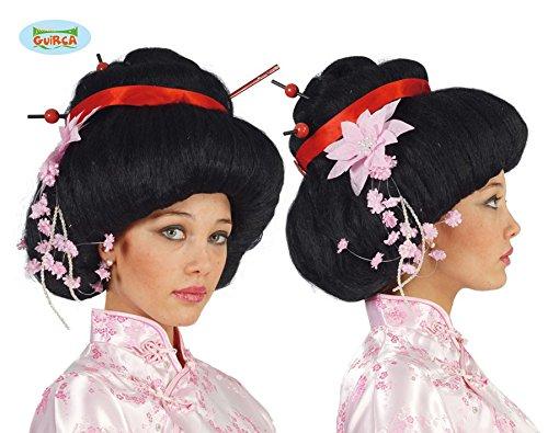 große Geisha Perücke für Damen