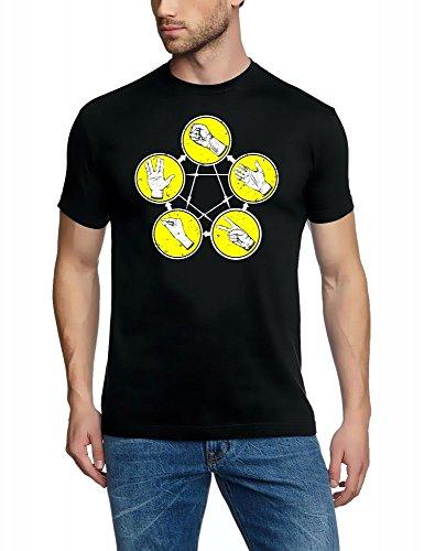 Pierre papier ciseaux Big Bang Theory Pierre-feuille-ciseaux T-shirt S–XXXL couleurs assorties - Noir/Jaune