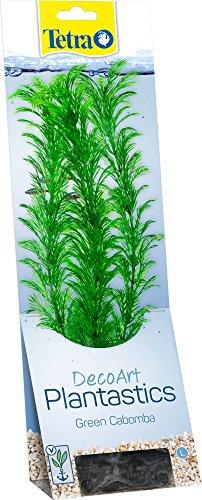 Tetra DecoArt Plant Cabomba, künstliche Aquariumpflanze, echt aussehende Unterwasserpflanze, Größe L, grün