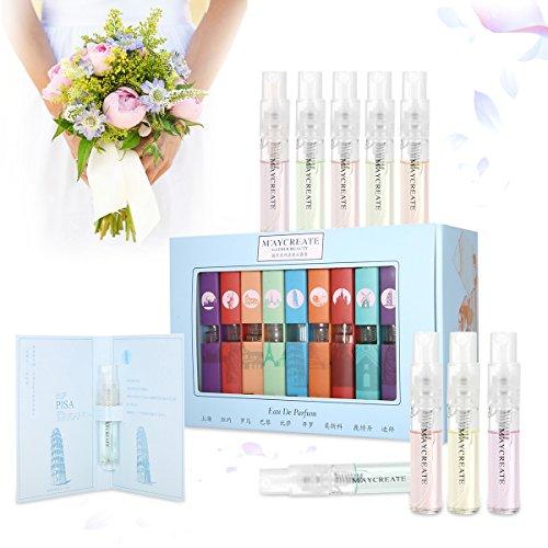 Set de regalo de 9 piezas Mini fragancias, Luckyfine 9 Ciudad del perfume, Set de regalo de San Valentín para niñas y mujer