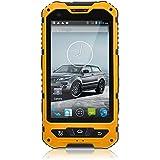 4 pulgadas IP67 impermeable rugoso 3G androide 4.2 Smartphone de 1,2 GHz de doble núcleo Dual SIM a prueba de polvo a prueba de choques pantalla capacitiva GPS 5MP A8 (amarillo, negro, verde, azul)