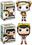 Funko POP! DC Comics Bombshells: Harley Quinn + Wonder Woman - Vinyl Figure Set NEW