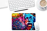 The Shopmetro Albert Einstein Art Designer Mouse Pad Black Base - 8 in x 7 in-(Product ID:78)