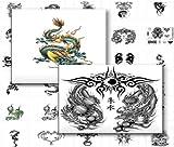 Drachen Tattoos - Dragon Tattoo Designs! (English Edition)
