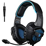 SADES SA-807 Gaming Headset Multi Function Pro Game Headphones with Microphone for PS4/ Xbox One PC iPhone/Smart Phone/Laptop /iPad/Mobile Phones