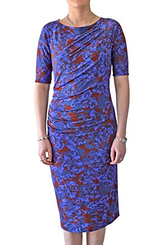 ex-marks-spencer-damen-kleid-einheitsgrosse-gr-40-blue-dark-red