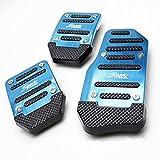 Ocamo Universal Nonslip Kupplung Bremse Gas Auto Pedal Teller-Set für Catch Auto Blau manuell