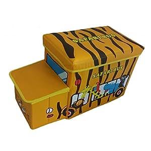 kids children 39 s ottoman yellow safari bus storage box