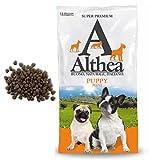Althea Puppy Mini 15 kg - Crocchette alla carne per cuccioli di cane di taglia piccola, naturali al 100%