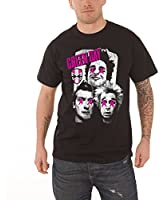 Green Day uno Uno Dos Tre Album logo Herren Nue Schwarz T Shirt all sizes
