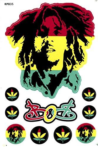 Bob Marley Aufkleber / Sticker / Stickerbogen 10-teilig