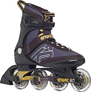 K2 Herren Inline Skate Seismic 80, schwarz/gelb, 7, 3020088.1.1.070