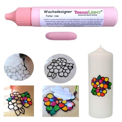 Wachsdesigner rosa glänzend 30 ml inkl. ausführlicher Anleitung mit Bilder