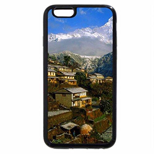 iPhone 6S / iPhone 6 Case (Black) Ghandruk annapurna nepal