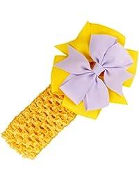 Stirnbaender - SODIAL(R)Stirnbaender Bowknot Haar Accessoires Maedchen Kleinkind Haarband (gelb)