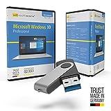 Microsoft Windows 10 Professional USB Stick mit Verpackung, Unterlagen von Microsoft Lizenz Experten, Zertifikat & Lizenzschlüssel