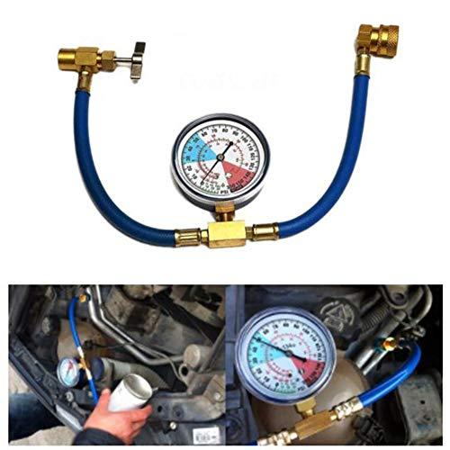 longrep R134A Kältemittel Nachfüllset Klimaanlage Kältemittel Aufladeschlauch mit Messgerät für Auto (1/2 Gewinde für Amerikaner und Europa) adaptable -