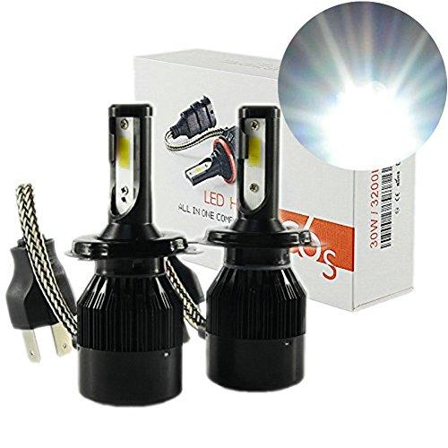 Preisvergleich Produktbild heinmo 12V Auto H4LED Leuchtmittel High Low Beam Auto Scheinwerfer Nebelscheinwerfer Auto Lichtquelle weiß 6500K Auto Head lamp-2Jahr Garantie