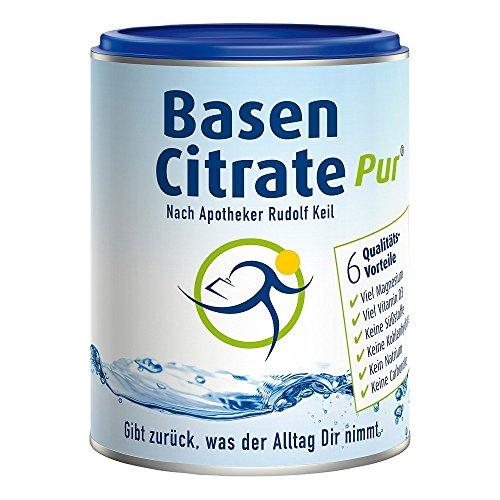 MADENA BasenCitrate Pur nach Apotheker Rudolf Keil | Basenpulver 216g Dose | Das Original mit 100% organischen Basen VEGAN | Viel Magnesium als Citrat, Zink, Kalium, Calcium Diät