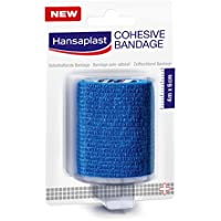 Hansaplast Kohäsive Bandage, 1 Rolle, 4 m x 6 cm, blau, 5er Pack (5 x 1 Stück) preisvergleich bei billige-tabletten.eu