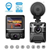 Dash Cam Dual Lens, Beawelle Car Camera Recorder Full HD 1080P Driving Video Recorder With GPS, Dash Cam Front and Back with Night Version, G-sensor, Motion Detection, Parking monitor, Loop Recording