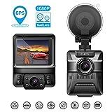 Beawelle Dashcam Full HD Autokamera 1080P DVR with GPS,Infrarotfunktion, WDR, Bewegungserkennung, Parkmonitor, Loop-Aufnahme, Nachtsicht und G-Sensor