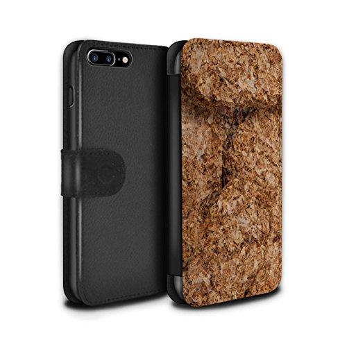Stuff4 Coque/Etui/Housse Cuir PU Case/Cover pour Apple iPhone 7 Plus / Grahams de Cannelle Design / Céréale Collection Weetabix