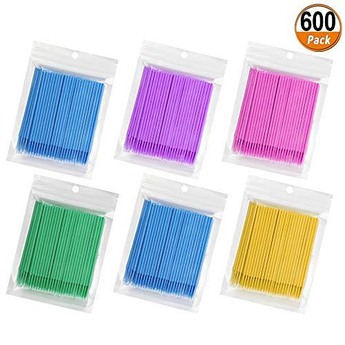 600 Pcs Micro Aplicadores Pinceles Aplicadores Desechables