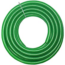 """TechnoCrafts PVC Braided Water Hose for Plumbing 5 Meter (16.5 feet) 1/2"""" (0.5 Inch or 12.5mm) Bore Size - 3 Layered Hose Pipe"""