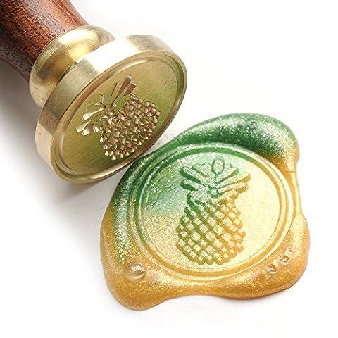 UNIQOOO Arts & Crafts Fruit Pineapple Wax Seal Stamp