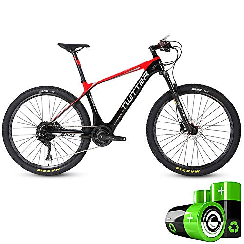HJHJ Bicicleta de montaña eléctrica Moto de Nieve híbrida 27.5 Pulgadas Bicicleta de Pedal Ultraligero para Adultos 36V10Ah batería de...
