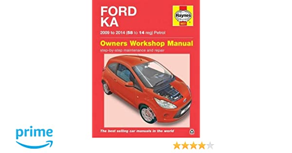 Ford Ka   Haynes Repair Manual Owners Workshop Manual Amazon Co Uk Anon  Books