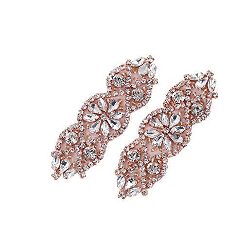(2 piezas) Boda nupcial de Cristal de Diamante de Imitacion Cinturon de...